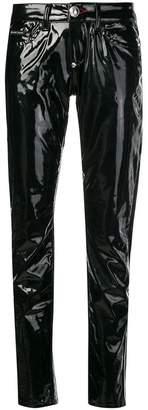 Philipp Plein latex trousers