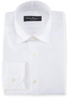 Salvatore Ferragamo Men's Cotton Gancini-Jacquard Sport Shirt