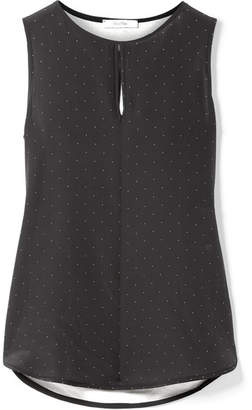 Max Mara Polka-dot Silk And Stretch-jersey Top