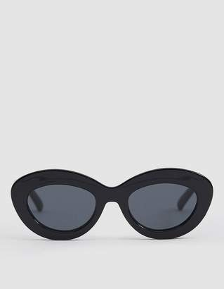 Le Specs Fluxus Sunglasses in Black