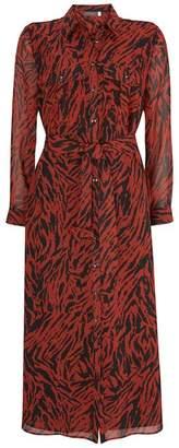 Mint Velvet Lizzie Zebra Midi Shirt Dress