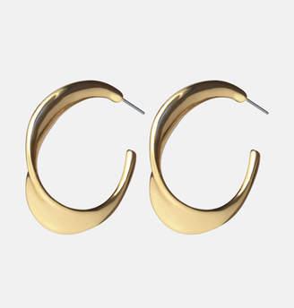 Avenue Gold Wavy Hoop Earrings