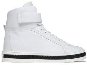 Sergio Rossi Leather High-Top Sneakers