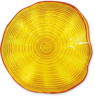 "Viz Glass 12"" Art Glass Wall Decor - Yellow"
