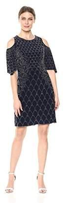 Xscape Evenings Women's Short Cold Shoulder Dress