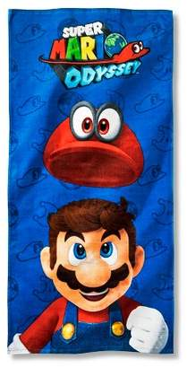 Nickelodeon Super Mario Beach Towel Blue and Red