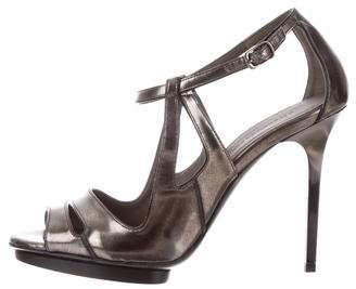 Balenciaga Metallic Cutout Sandals
