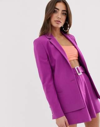 d4fa312cf7 Asos Design DESIGN forever suit blazer in purple