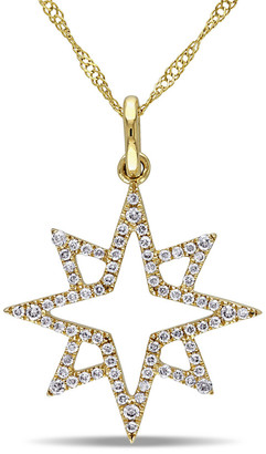Diamond Select Cuts 14K 0.20 Ct. Tw. Diamond Star Necklace