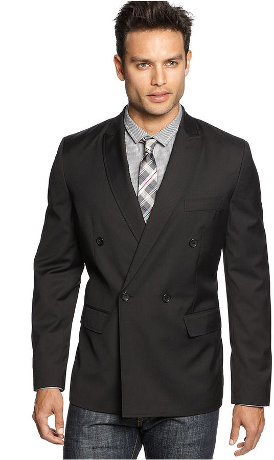 American Rag Jacket, Knit Double Breasted Blazer