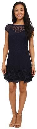 Jessica Simpson Short Tiered Sleeve Dress with Ruffle at Hem Women's Dress