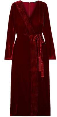 Rachel Zoe Aly Gathered Wrap-effect Velvet Dress