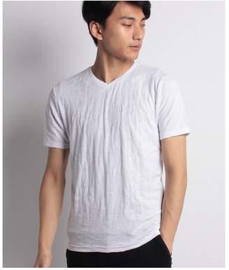 Men's Bigi (メンズ ビギ) - Men's Bigi リーフジャガード 半袖VネックTシャツ