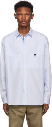 Oamc White Shadow Micro Pinstriped Shirt