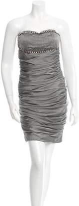 Blumarine Silk Strapless Dress