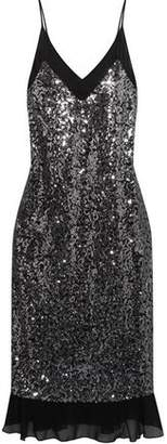 By Malene Birger Sequined Crepe De Chine Dress