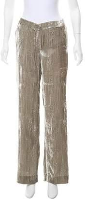 Oscar de la Renta Velvet Mid-Rise Pants