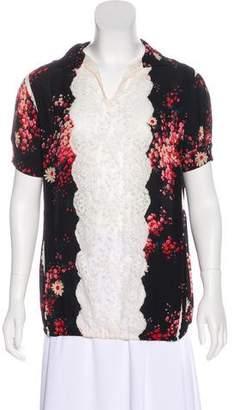 Dolce & Gabbana Lace-Trim Short Sleeve Top