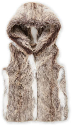 Bomboogie (Toddler Girls) Faux Fur Hooded Vest