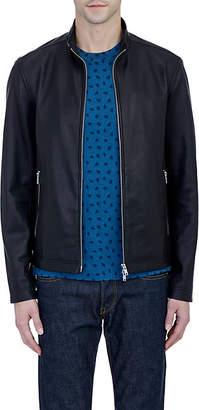 Theory Men's Leather Morvek L Jacket - Black