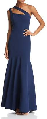 Laundry by Shelli Segal One-Shoulder Crepe Gown - 100% Exclusive