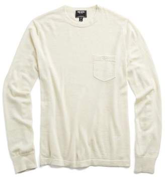 Todd Snyder Cashmere T-Shirt Sweater in Beige