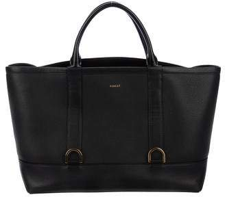 Sacai Leather Flap-Top Tote