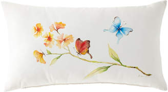 "Eastern Accents Hand-Painted Butterfly Lumbar Pillow, 15"" x 26"""