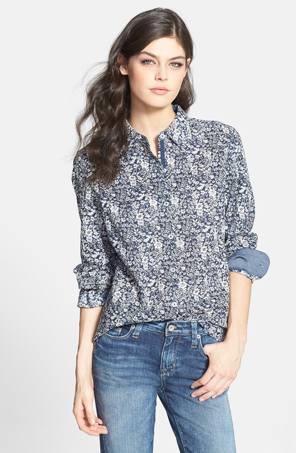 Nexx Floral Print Cotton Shirt