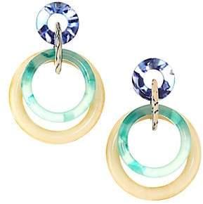 Lele Sadoughi 14K Goldplated Double Ring Hoop Earrings