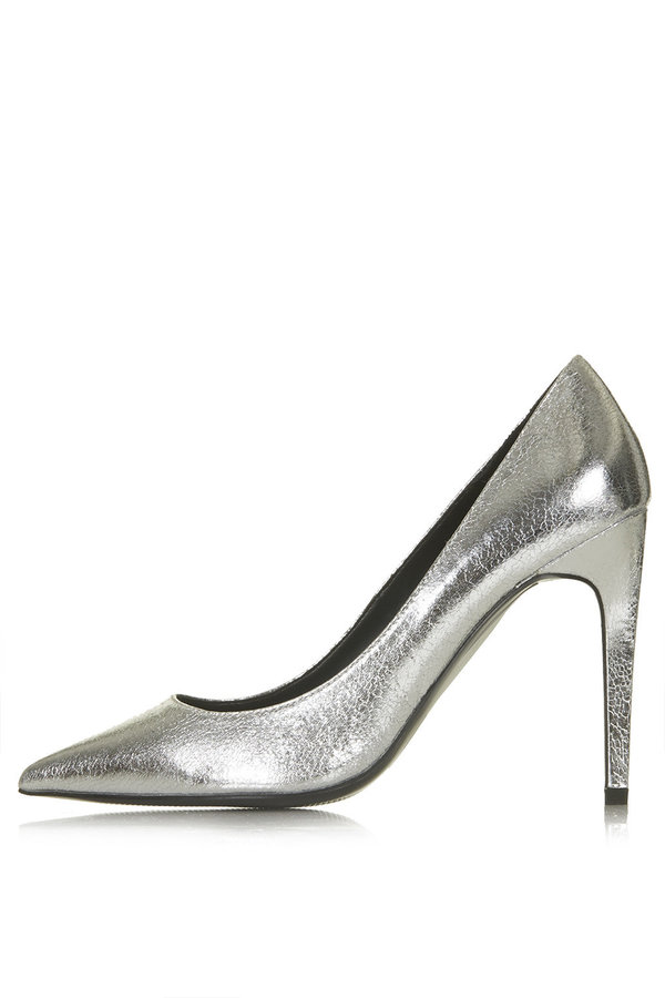 Gemini metallic court shoes