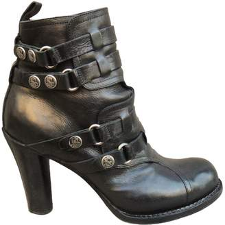 Sartore Leather buckled boots