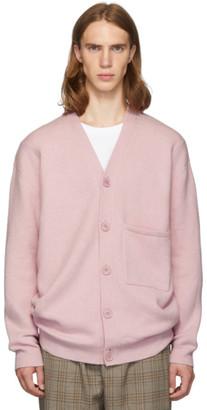 Tibi SSENSE Exclusive Pink Cashmere Oversized Cardigan
