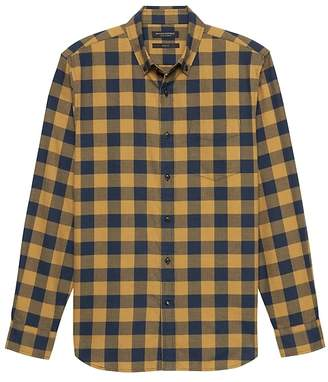 Banana Republic NEW Slim-Fit Luxe Flannel Buffalo Check Shirt