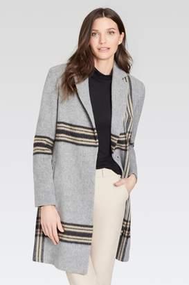 Ecru Plaid Coat