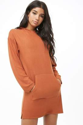 Forever 21 Brushed Knit Hooded Dress