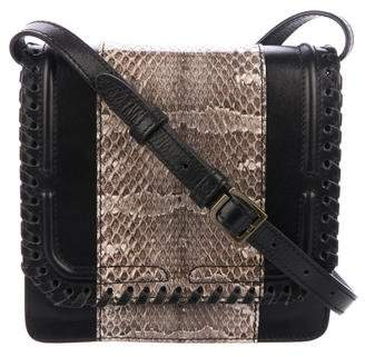 Pre Owned At Therealreal Dannijo Snakeskin Trimmed Lypton Box Bag