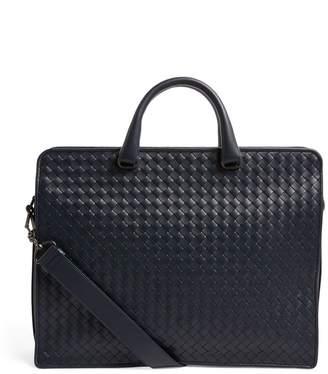 Bottega Veneta Leather Intrecciato Briefcase