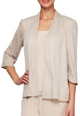 Alex Evenings 2-Piece Three-Quarter Sleeve Jacket and Tank Set
