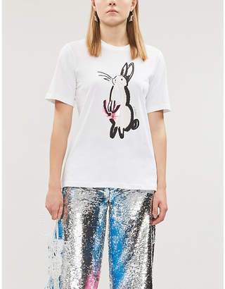 Markus Lupfer Alex graphic-print cotton-jersey T-shirt