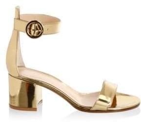 Gianvito Rossi Portofino Leather Ankle-Strap Sandals