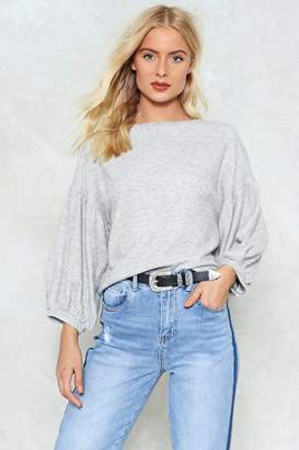 Nasty Gal The Big Picture Balloon Sweater
