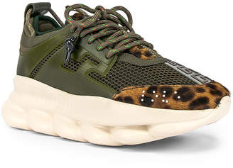 Versace Chain Reaction Sneakers in Green | FWRD