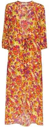 Adriana Degreas Flower and Fruit Printed Belted Robe
