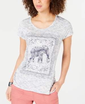 Style&Co. Style & Co Elephant Graphic-Print T-Shirt, Created for Macy's