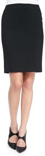 Armani Collezioni Featherweight Wool Pencil Skirt