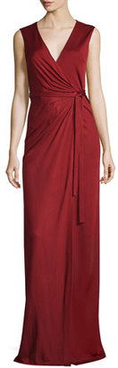 Diane von Furstenberg Taley Sleeveless Maxi Wrap Dress, Garnet $698 thestylecure.com