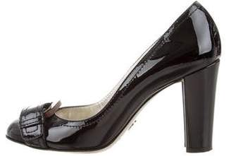 Dolce & Gabbana Patent Leather Buckle-Accented Pumps