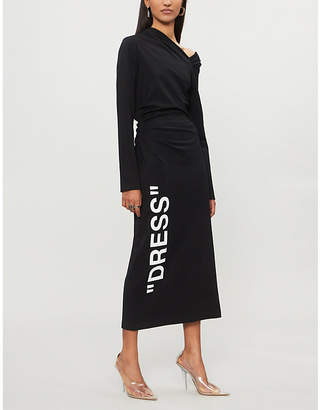 Off-White One-shoulder woven dress