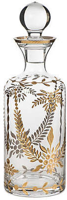 "12"" Decorative Glass Jar - Gold/Clear - Bradburn Home"